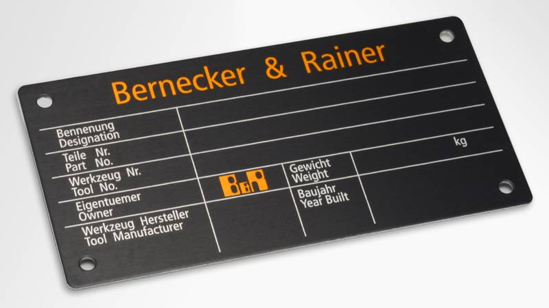 Type plate in anodised aluminium | RATHGEBER